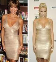 GOLD shining star band Hot Sale S M L XL XXL Lotus leaf lace sexy V-neck waist dress clubwear dresses sexy nightclub dress