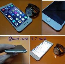 Unlock HDC phone 6 4.7 inch quad core metal smartphone mtk6582 i6 1G RAM 5MP 1280*720 cheap phone Portuguese Italian Spanish