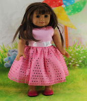 """Free shipping new hot doll clothes dress pink children gift for18"""" American girl"""