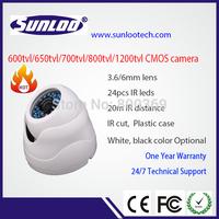 1/4'' CMOS chipset 600tvl h.264 security camera wih IR cut