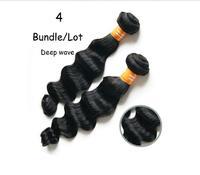 4 bundles virgin indian deep wave hair,indian curly hair loose wave,quality queen hair weaving free shipping