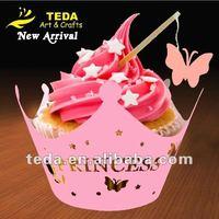 Princess design wedding cupcake wrapper