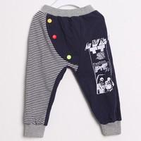 2015 Spring Autumn Boy Girl Casual Pants New Arrival Korean Children Harem Pants Small Kids Trouse Factory Sale TR34