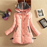New hit color hooded thick long coat women section fuli down thicken outerwear female parkas