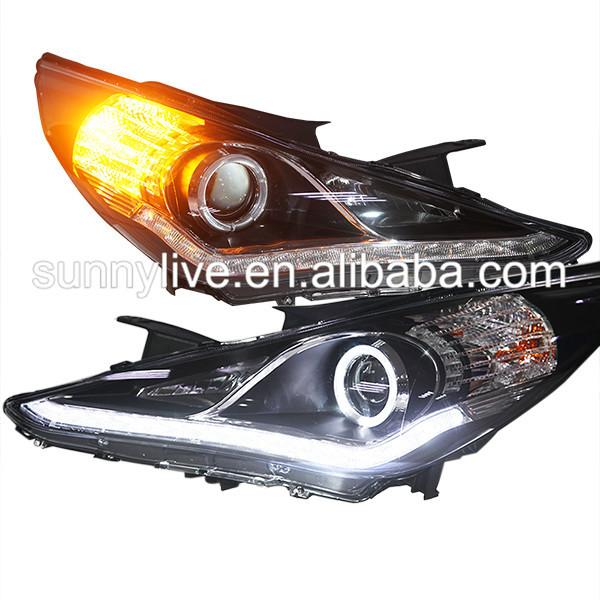 FOR Hyundai Sonata Angel Eyes LED head lamp 2009 to 2011 year ZM(China (Mainland))