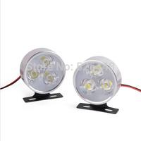 18W  strobe controller kit Automobile Round Fog lamp DRL Day light Police Emergency Warning White Rear brake lighting12V