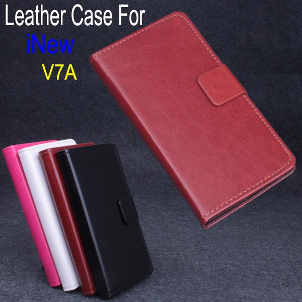 Чехол для iNew V7A полиуретан, v7a роскошь кожа с стойка функция черный белый розовый коричневый цвет inew телефон в воронеже где