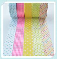 1.5cm 10m 10ROLLS decoration label diy photo album Decoration washi tape colorful customized washi tape  FREE SHIPPING