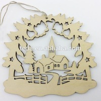 2015 laser cut plywood christmas ornaments