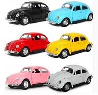 Free shipping (2pcs/set)Webworm Alloy vintage car beetle 1 generation three open