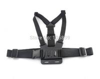 Black Harness Adjustable Chest Body Belt Strap Mount for Gopro HD Hero 1/2/3/3+/4 Camera SU Accessories 10pcs/lot
