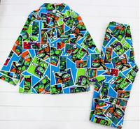 2015 free shipping New Arrival Teenage Mutant Ninja Turtles boy flannel flannelette winter pyjamas pajamas sleepwear pjs sets