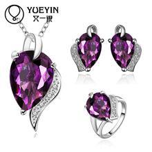 10sets/lotFVRS020 2015 new fine jewelry sets Extravagant Party jewlery set for lady Fashion Big Crystal set