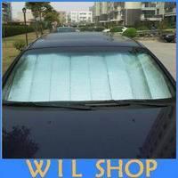 Free shipping 130CM x 60CM Car Styling Car Sunshade Sunscreen Sided Insulated Aluminum Foil Sun Shade