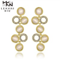 E977-AWholesale Nickle Free Antiallergic 18K Real Gold Plated Earrings For Women New Fashion Jewelry