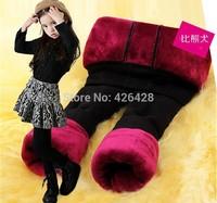 2014 winter girls leggings Thickening warm cotton Baby girls leggings for 3-15 Year girl Retail Free shipping