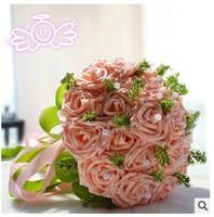 (23pcs/bouquet) 2015 Fashion high quality wedding flowers bride holding flowers simulation wedding bouquet