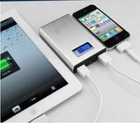 New 12000mah LCD Power bank Dual USB Powerbank charger external iPhone5S S5 battery,carregador de bateria portatil