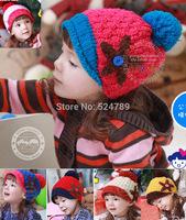 Cute Children Baby Knitted Starfish Beanie winter Bomber Hat Cap Linecaps Headgear visors Free Shipping