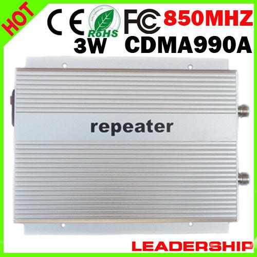 Wholesale Free shipping CDMA990A CDMA 850mhz booster CDMA 800mhz/850mhz repeater 85dbm 3W CDMA990A 3G mobile phone repeater(China (Mainland))