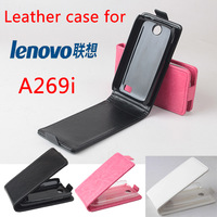 Hot Sale Lenovo A269i Case Luxury PU Leather Case for Lenovo A269i Open Up and Down Free Shipping