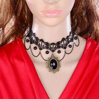 DL3339 Wholesale 12pcs/lot Fashion DIY Gothic jewelry prom lace necklaces & pendants false collar women accessories