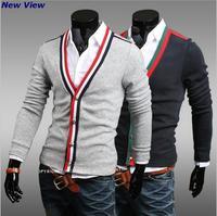 New Brand fashion 2015 sweater men Cotton slim outdoorwear casual men polo Spring/Autumn XXL Wholesale&Retail Drop shiping