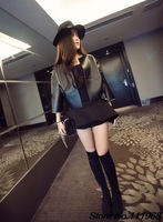 2014 Autumn New Charming Trend All-Match Personal Round Brought  The Seven Quarter Sleeve Furriery Women chaquetas mujer LSY044