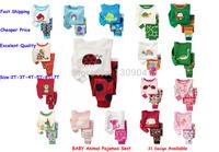 2015 baby clothing kids pajamas children pijamas animal design for boys girls long sleeve 100% cotton pyjamas child pajamas