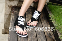 Hot !all color summer Women Sandals & Unisex High star Canvas flip-flops canvas  flat Sandals women slippers shoes