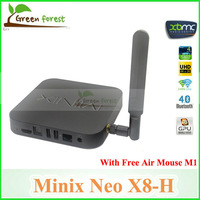 Android TV Box MINIX NEO X8-H X8 -H X8H Quad Core Amlogic S802-H 2GB 16GB 4K Android Kitkat 4.4 Smart TV Box XBMC Mini PC+M1