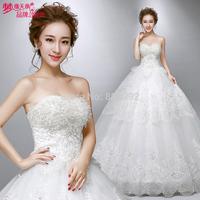 2014 Wedding Dresses maternity bandage tube top lace plus size 1756