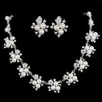 Married necklace the bride set sweet bridal jewelry the bride necklace married rhinestone necklace 2 piece set 03