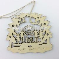Wood laser cut christmas ornament