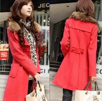 Hot New Women's Trench Coat casacos femininos Plus Size XXL Long Woolen Winter Jackets Blends Free Shipping 4 Colors M-XL SJY744