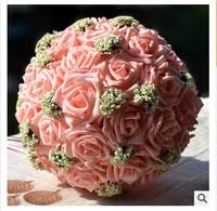 (30pcs/bouquet) 2015 Fashion wedding flowers bride holding flowers simulation bridal bouquet