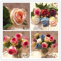 10PCS/LOT 7 colors Single New Thai Princess Rose WEDDING artificial FLOWERS Bride holding flowers