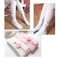 Free Shipping Professional Ballet Dance Child Pantyhose Stockings Cotton Baby Girls Tights