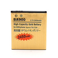 DHL  shipping 100pcs/Iot  Gold 2450mAh Battery For  Sony Ericsson BA900   TX LT29/LT29i GX LT30/LT30i