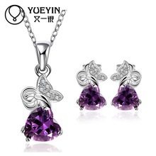 10sets/lotFVRS038 2015 new fine jewelry sets Extravagant Party jewlery set for lady Fashion Big Crystal set Necklace  and Earing