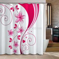 Big Pink Orchid  bathroom curtain shower curtain terylene bath curtain 180x180cm ,screen shower,curtain bath