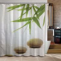 Bamboo zen stones products  bathroom curtain shower curtain terylene bath curtain 180x180cm ,screen shower,curtain bath