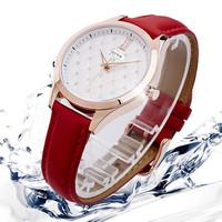 Simple and Elegant Fashion Dress Watches with PU Strap Ladies Students Fashion Quartz Wristwatch