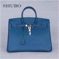 2015 Hot Sale 100% Genuine Leather Brand Designer Handbag Togo Leather Birk Bags Women Fashion Messenger Shoulder Bag Tote HMS35