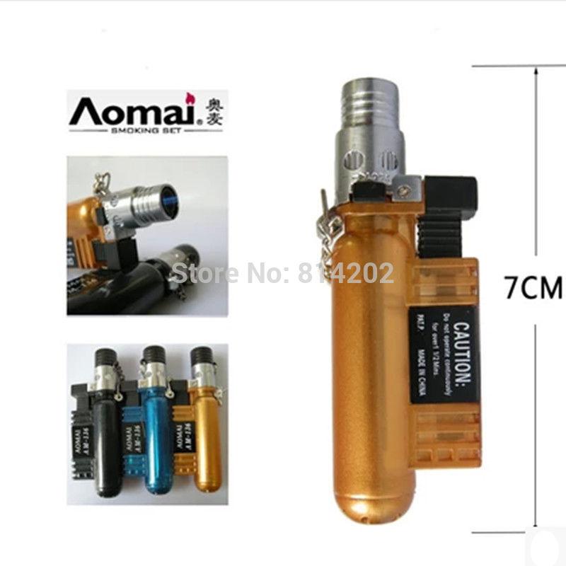 Yellow Jet Cigarette Lighter Torch Flame Butane Gas Cigarette Cigar Lighter(China (Mainland))
