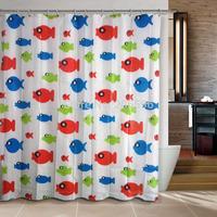 New Arrival Lucky fishes Bathroom curtain shower curtain PEVA bath curtain 180x180cm ,screen shower,curtain bath plasticcortina