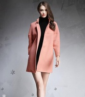 Stylish thick and long sections loose big yards wool woolen coat
