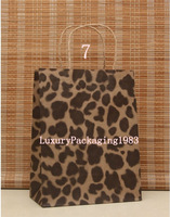 Size 27*21*11cm Purple Apparel Kraft Paper Bag with Handle Free Shipping