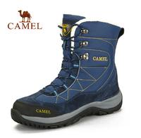 Camel outdoor walking shoes new winter 2014 men's high-top walking boots inside warm velvet lining