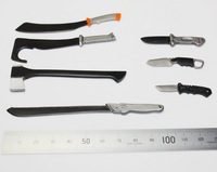 7pcs/set Brand New 1/6 Scale Action Figure Accessories The Walking Dead Hacking Knife/Axe Model For 12'' Action Figure Model Toy